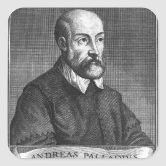Andrea Palladio  engraved by Francesco Square Sticker