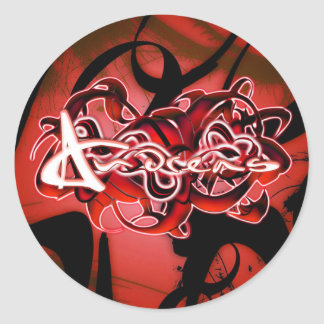 Andreas Round Stickers