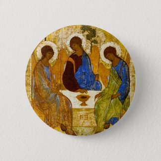 """Andrei Rublev, """"Holy Trinity"""" 6 Cm Round Badge"""