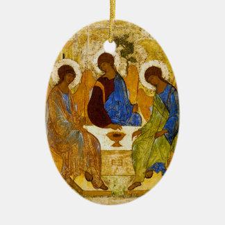 "Andrei Rublev, ""Holy Trinity"" Ceramic Oval Decoration"