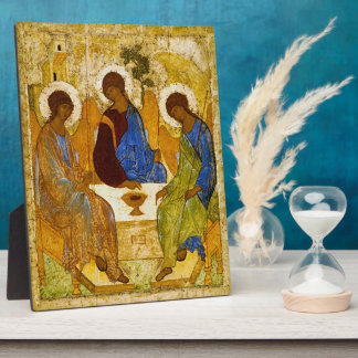 """Andrei Rublev, """"Holy Trinity"""" Display Plaque"""