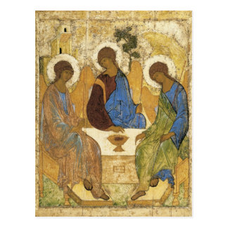 Andrei Rublev Iconic Trinity Angels Abraham Bible Postcard