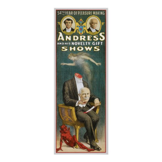 Andress ~ Canadian Magician Vintage Magic Ad Poster