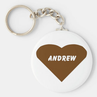Andrew Basic Round Button Key Ring