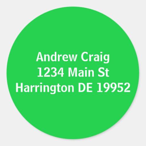Andrew Craig1234 Main StHarrington DE 19952 Round Sticker