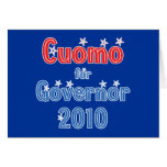 Andrew Cuomo for Governor 2010 Star Design Greeting Card