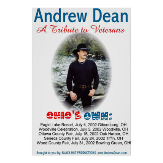 Andrew Dean summer 2002 concerts Poster