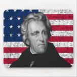 Andrew Jackson and The US Flag Mouse Pads