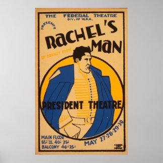 Andrew Jackson Drama 1937 WPA Vintage Poster