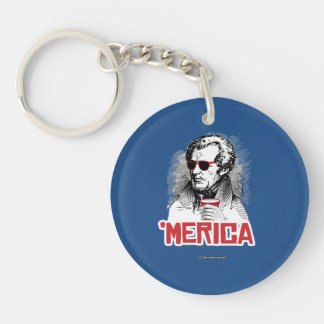 Andrew Jackson 'Merican Party Double-Sided Round Acrylic Keychain