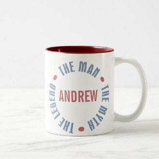 Andrew Man Myth Legend Customizable Two-Tone Coffee Mug