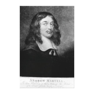 Andrew Marvell , engraved by John Raphael Smith Canvas Print