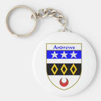 Andrews Coat of Arms/Family Crest Keychain