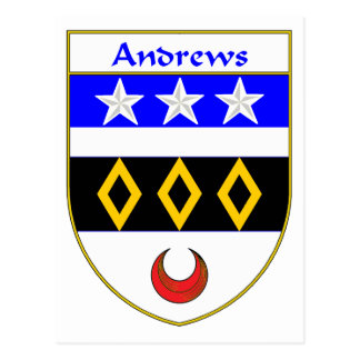 Andrews Coat of Arms/Family Crest Postcard