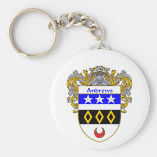 Andrews Coat of Arms (Mantled) Keychains