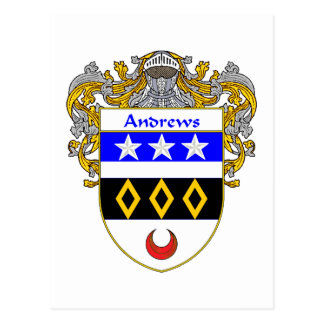 Andrews Coat of Arms (Mantled) Post Cards