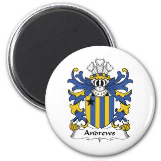 Andrews Family Crest 6 Cm Round Magnet
