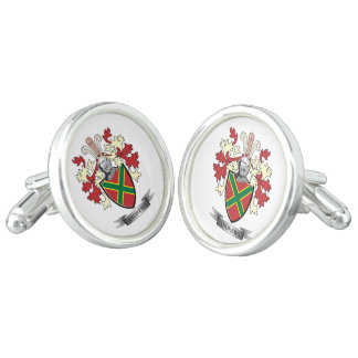 Andrews Family Crest Coat of Arms Cuff Links