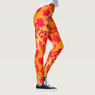 Andreya Orange and Red Leggings