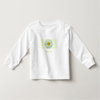 """Andria Daisy """"Little Miss"""" with Green Scroll T Toddler T-Shirt"""