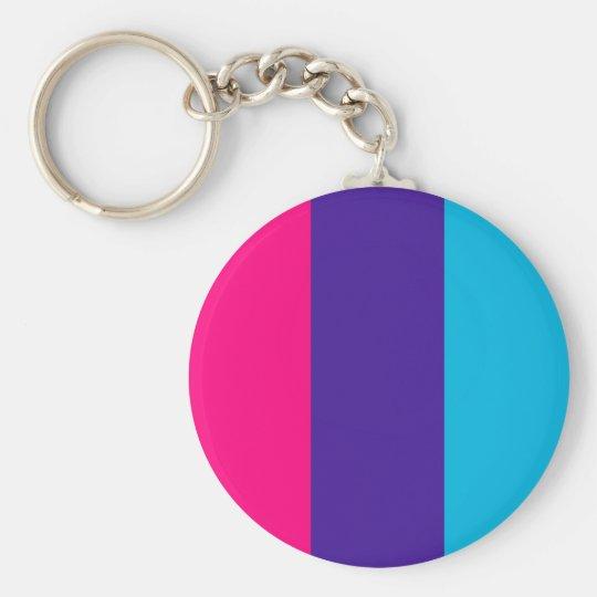 Androgyne pride flag basic round button key ring