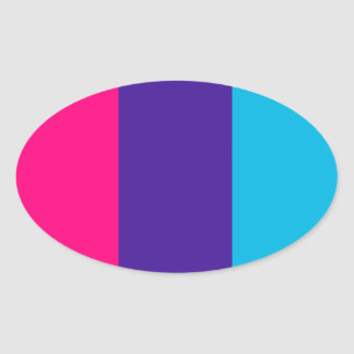 Androgyne pride flag oval sticker