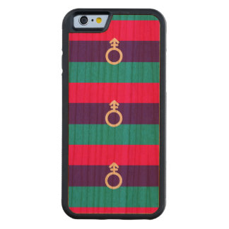 ANDROGYNE PRIDE PATTERN CARVED® CHERRY iPhone 6 BUMPER