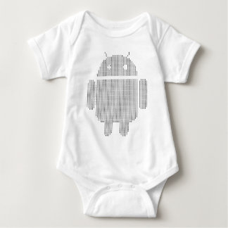 Android---Ascii black Baby Bodysuit