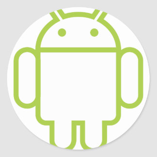 android classic round sticker