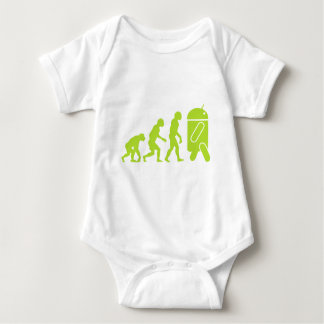 Android Evolution Baby Bodysuit