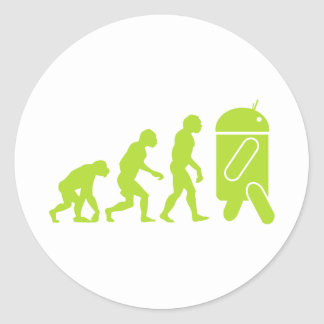 Android Evolution Classic Round Sticker
