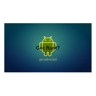 Android Got Root Pack Of Standard Business Cards