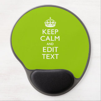 Android Green Decor Keep Calm And Your Text Gel Mouse Pad