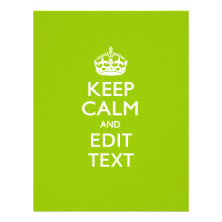 Android Green Keep Calm And Your Text 21.5 Cm X 28 Cm Flyer