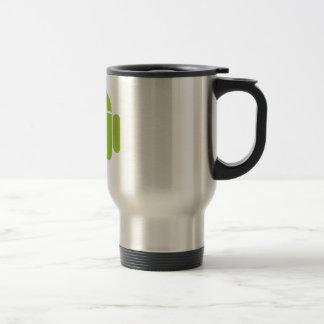 Android Green Robot Logo Stainless Steel Travel Mug