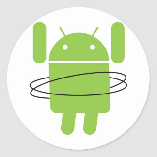 Android Hula Hoop Round Sticker