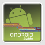 Android Inside Square Sticker