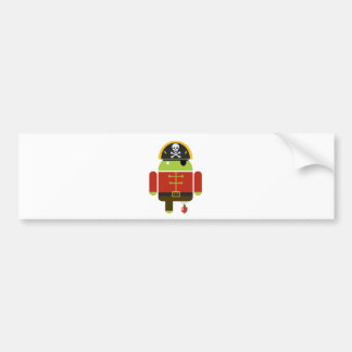 Android Pirate - Andy Bumper Stickers