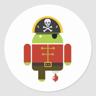 Android Pirate - Andy Classic Round Sticker