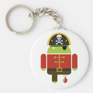 Android Pirate Crushing An Apple Key Ring