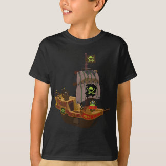 Android Pirate on a Ship T-Shirt