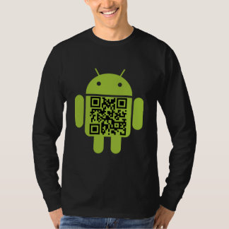 Android QR Code Men's Long Sleeve Tee Shirts