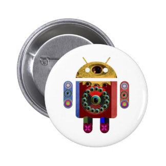 ANDROID Robot 6 Cm Round Badge