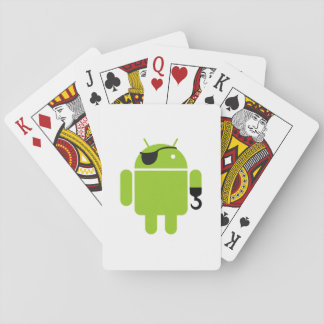 Android Robot Icon as a Pirate Playing Cards