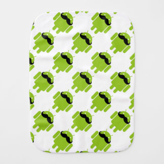 Android Robot Mustache Burp Cloths