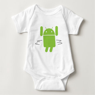 Android – Shake your booty Baby Bodysuit