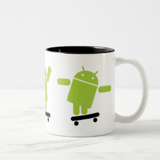 Android Skateboarding Two-Tone Coffee Mug