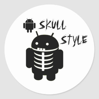 Android SKULL STYLE Classic Round Sticker