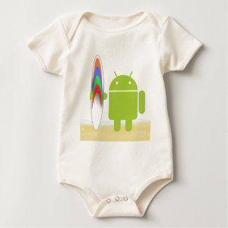 Android Surfer Baby Bodysuit