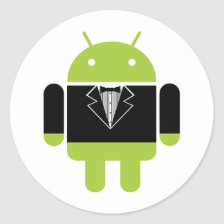 Android Tux Classic Round Sticker